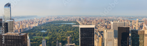 Photo  Aerial View of Central Park and Upper Town, New York
