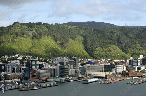 Wellington downtown cityscape, NZ