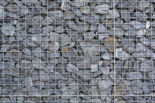 Wire Fence Filled With Stones