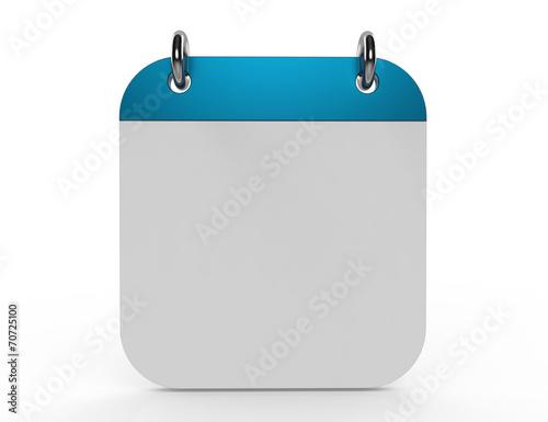Fotografía  3d ilustración de calendario con página en blanco