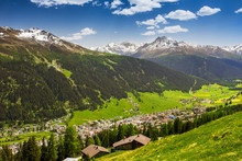 View To Davos City And Swiss A...