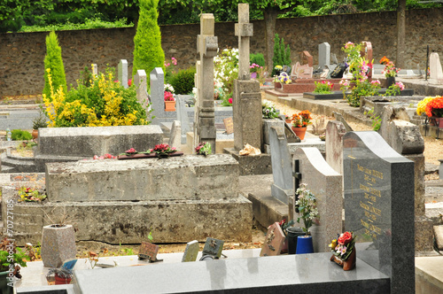 Wall Murals Cemetery France, the picturesque city of Saint Germain en Laye