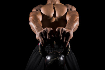 Fototapeta Fitness / Siłownia kettle bell low view