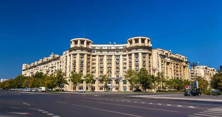 Fototapeta na wymiar Buildings in the city center of Bucharest, Romania