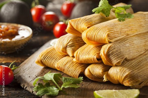Fotografia, Obraz  Homemade Corn and Chicken Tamales