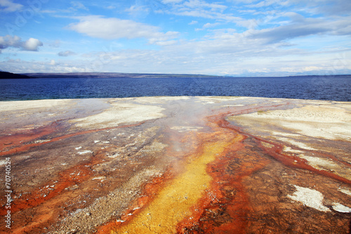 Fototapeta West Thumb Geyser Basin obraz na płótnie