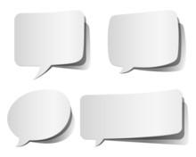 White Peeling Speech Bubbles