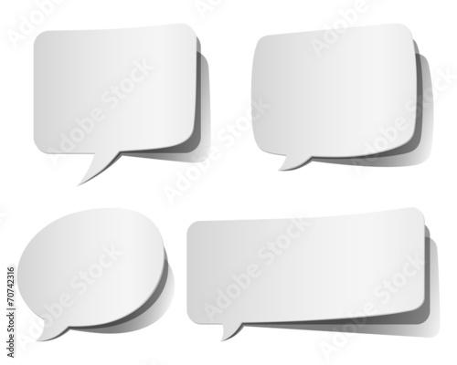 White Peeling Speech Bubbles Wallpaper Mural