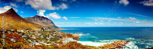 Stickers pour porte Afrique Cape Town city panoramic image