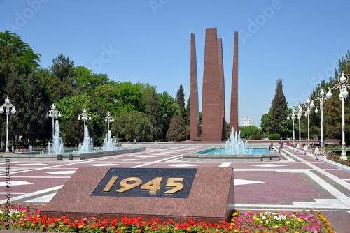Мемориал войнам погибшим в ВОВ в Ашхабаде Canvas Print