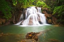 Huai Mae Khamin Waterfall. The...