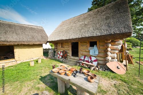 Fotografía  Old slavic village in Poland