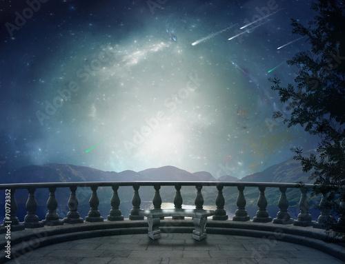 Canvas-taulu Fantastic balcony and landscape