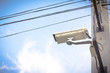 image of cctv camera on electric pole