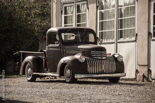 Photo  Oldtimer Pickup