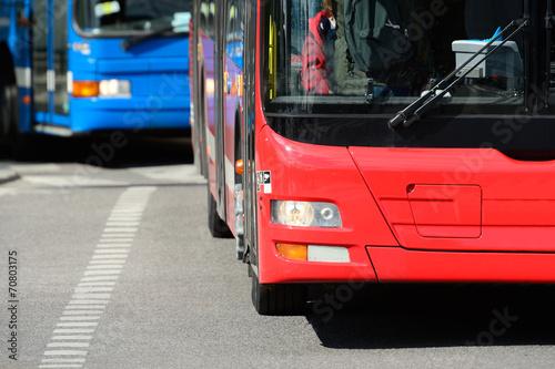Zdjęcie XXL Autobusy w ruchu