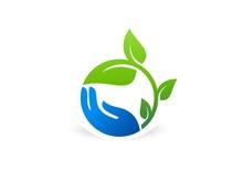 Hand,plant,logo,tree,nature,le...