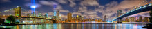 Manhattan Panorama In Memory Of September 11, New York City