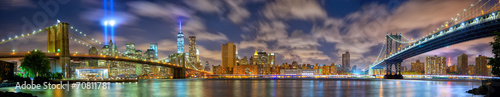 Photo  Manhattan panorama in memory of September 11, New York City