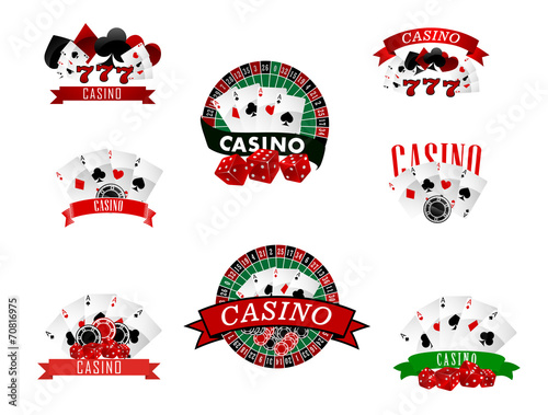 фотография  Casino and gambling badges, icons or emblems