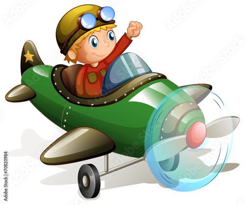 Foto op Canvas Cars Plane and pilot