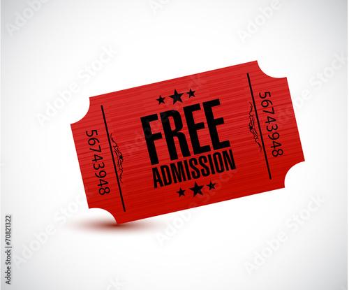 Photo free admission ticket illustration design