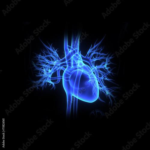 Fotobehang Fractal waves Heart