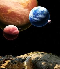 Fototapeta układ planet