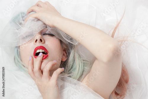 Leinwand Poster Braut Vergnügen