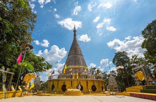The stainless steel pagoda Thailand Canvas Print