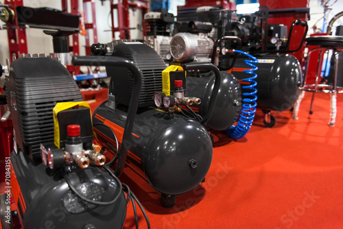 Fototapeta Air compressor pressure pumps obraz