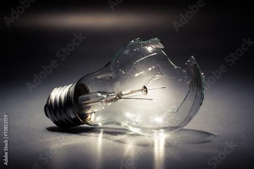 Photo  Broken light bulb