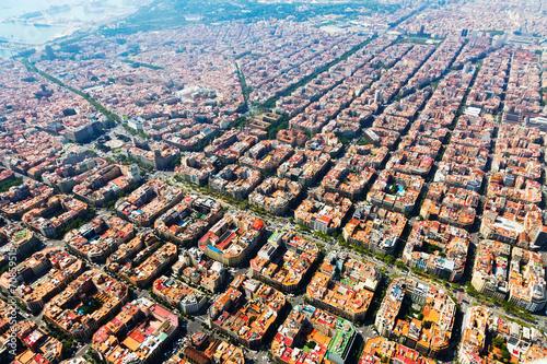 Valokuva  Aerial view of   Barcelona, Catalonia