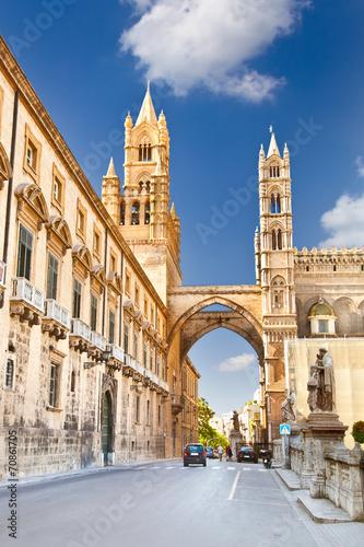 La pose en embrasure Palerme Palermo Cathedral , Sicily, Italy.