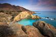 Scenic coast in southern Crete, Greece.