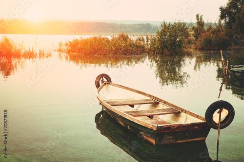 Fotografia  Boat on the lake