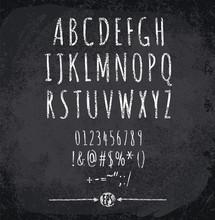 Vector Illustration Of Chalked Alphabet
