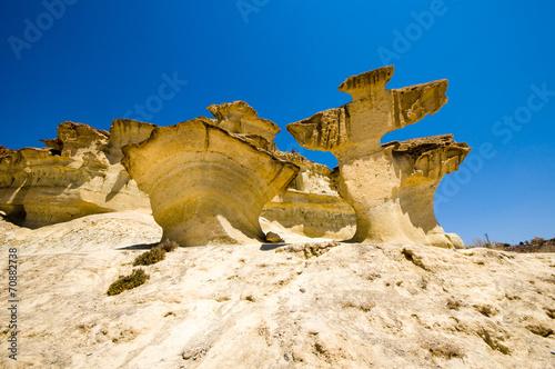 erosion on sandstone on Bolnuevo beach, Mazarron, Murcia, Spain