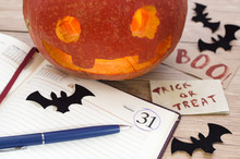 Pumkin Head With Bats, Diary A...