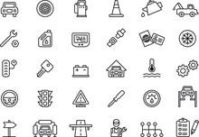 Car Repair Shop Icons