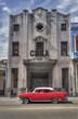 Classic american red car in Old Havana, Cuba