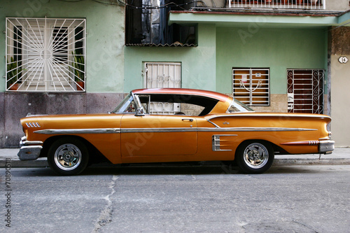 Spoed Foto op Canvas Vintage cars vintage cuban car