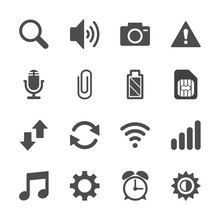 Smart Phone Application Icon S...