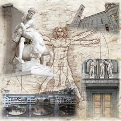Fototapeta Miasta Collage Florenz