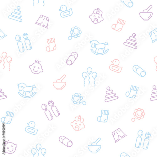 Seamless pattern for baby . - 70900994