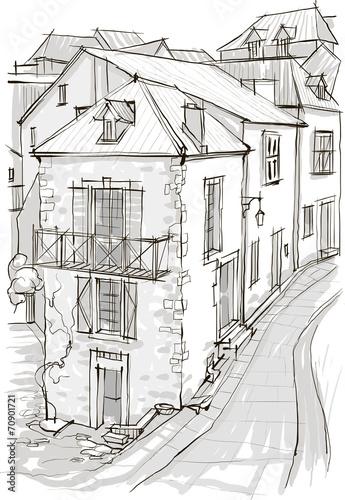 In de dag Illustratie Parijs рисунок здания