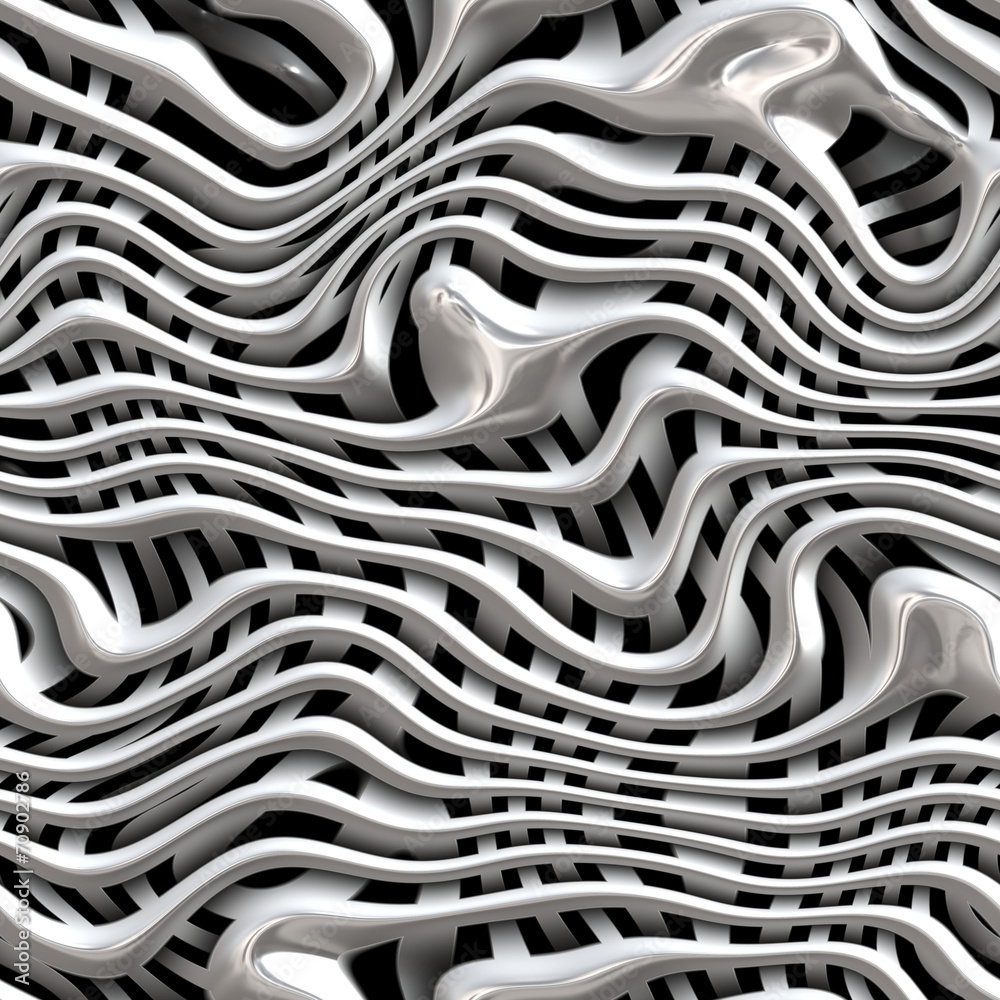 Valokuva Seamless Weaving metal structure