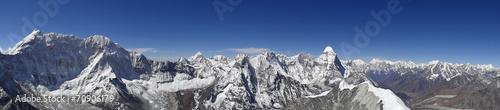 Wall Murals Nepal Panorama depuis le sommet de l'Island Peak - 6189 m, Népal