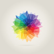 Color Wheel Polygon In Beige B...