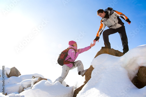 Fotobehang Alpinisme Mountaineers